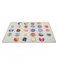 ECR4Kids A-Z Activity Seating Rectangle Classroom Rug