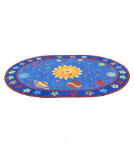 ECR4Kids Out of This World Alphabet Oval Classroom Rug