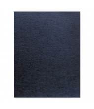 "Fellowes 7.5 Mil 8.5"" x 11"" Square Corner Navy Linen Texture Binding Cover, 200/Pack"