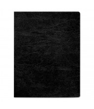 "Fellowes 7.5 Mil 8.75"" x 11.25"" Round Corner Grain Texture Black Binding Cover, 200/Pack"