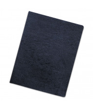 "Fellowes 7.5 Mil 8.75"" x 11.25"" Round Corner Leatherlike Texture Navy Binding Cover, 50/Pack"