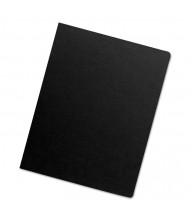"Fellowes Futura 7.5 Mil 8.75"" x 11.25"" Round Corner Opaque Black Binding Cover 25/Pack"