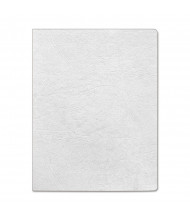 "Fellowes 7.5 Mil 8.75"" x 11.25"" Round Corner Classic Grain White Binding Cover, 200/Pack"