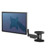 """Fellowes Single Monitor Arm Wall Mount for Monitors Up to 42"""""""