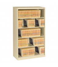 "Tennsco 5-Shelf 36"" Wide Open Shelf Lateral File Cabinet (Shown in Sand)"