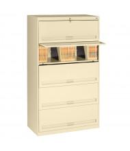 "Tennsco 5-Shelf 36"" Wide Closed Shelf Lateral File Cabinet (Shown in Sand)"