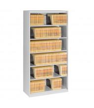 """Tennsco 6-Shelf 36"""" Wide Open Shelf Lateral File Cabinet (Shown in Light Grey)"""