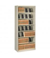 "Tennsco 7-Shelf 36"" Wide Open Shelf Lateral File Cabinet (Shown in Putty)"