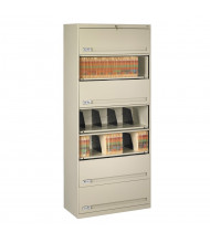 "Tennsco 7-Shelf 36"" Wide Closed Shelf Lateral File Cabinet (Shown in Putty)"