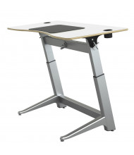 "Safco Focal Locus 60"" W Crank Height Adjustable Standing Desk (Shown in White)"