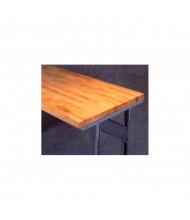 Tennsco Hardwood Workbench Tops with Stringer