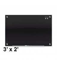 Quartet G3624B Infinity 3 x 2 Black Magnetic Glass Whiteboard