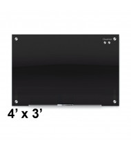 Quartet G4836B Infinity 4 x 3 Black Magnetic Glass Whiteboard