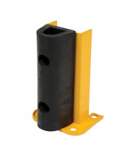 "Vestil 8"" W x 6"" D Structural Steel Rack Guard with Rubber Bumper (12"" model)"