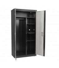 "Sandusky 36"" W x 18"" D x 72"" H Combination Storage Cabinet, 2-Tone"