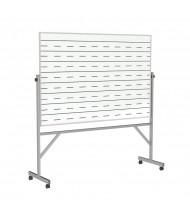 Ghent GARM1M146-PEN2 Graphic Penmanship Lines 2-Sides 6 ft. x 4 ft. Aluminum Frame Porcelain Magnetic Reversible Board