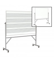 Ghent Graphic Music Staff 1-Side 6' x 4' Porcelain Magnetic Reversible Mobile Whiteboard