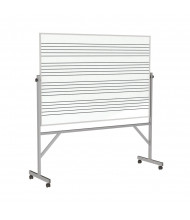Ghent GARM1M146-MS1 Graphic Music Staff 1-Side 6 ft. x 4 ft. Aluminum Frame Porcelain Magnetic Reversible Board