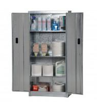 "Vestil GCAB-3015-67 30"" W x 15"" D x 67"" H Galvanized Storage Cabinet"