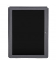 Ghent Ovation 2' x 3' Pin-On Enclosed Letter Board (Shown with Grey Frame)