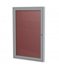 Ghent Outdoor 3' x 3' Pin-On Enclosed Vinyl Letter Board, Burgundy/Silver
