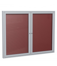 Ghent Outdoor 4' x 3' Pin-On Enclosed Vinyl Letter Board, Burgundy/Silver