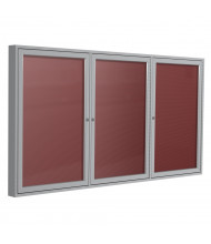 Ghent Outdoor 6' x 4' Pin-On Enclosed Vinyl Letter Board, Burgundy/Silver