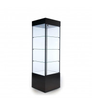 "Tecno GL100-2 Square Tower Display Case 23"" W x 23"" D x 75"" H (in black)"