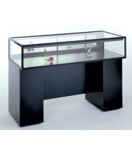 Tecno GL106 Sit Down Display Case - Shown in black laminate with black frame