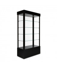 "Tecno GL1 Open Rectangular Tower Display Case 18"" D x 73"" H (in black)"
