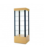 "Tecno GL2 Square Open Tower Display Case 26"" W x 26"" D x 73"" H (in maple)"