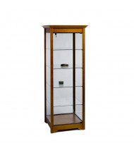 """Tecno GL605 Square Tower Display Case 25.5"""" W x 25.5"""" D x 76"""" H (light cherry wood veneer with crown molding on top and accent molding)"""