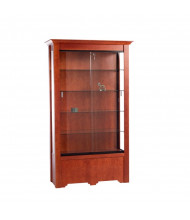"Tecno GL606 Rectangular Display Case 48"" W x 16.5"" D x 76"" H (cherry veneer with red cherry stain)"
