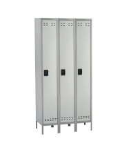 Safco Single Tier 3-Wide Steel Locker (Shown in Grey)