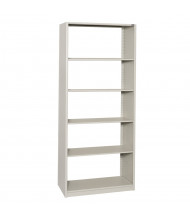 "Datum 5-Shelf 24"" D x 36"" W x 88"" H Open-Back Shelving Unit (Shown in Light Grey)"