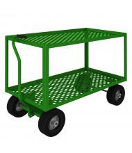 Durham Steel 1000 lb Load 2-Shelf Garden and Nursery Carts