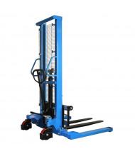 "Eoslift 63"" Lift 2200 lb Load Hydraulic Adjustable Fork Stacker"