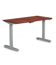 """Offices to Go 48"""" W x 24"""" D Laminate Top 28.5"""" - 46.25"""" H Electric Height Adjustable Table (Shown in Dark Cherry)"""