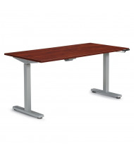 """Offices to Go 60"""" W x 30"""" D Laminate Top 28.5"""" - 46.25"""" H Electric Height Adjustable Table (Shown in Dark Cherry)"""