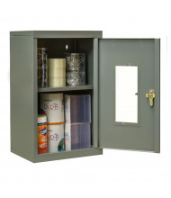 "Hallowell 400 Series 12"" D Wallmount Safety-View Storage Cabinets (Shown in Dark Grey)"