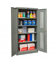 "Hallowell 400 Series 36"" W x 72"" H Ventilated Storage Cabinets (Shown in Dark Grey)"