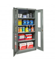 "Hallowell 400 Series 36"" W x 72"" H Safety-View Storage Cabinets (Shown in Dark Grey)"