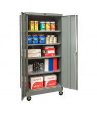 "Hallowell 400 Series 24"" D x 72"" H Mobile Storage Cabinets (Shown in Dark Grey)"