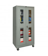 "Hallowell 400 Series 24"" D x 72"" H Safety-View Mobile Storage Cabinets (Shown in Dark Grey)"