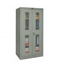 """Hallowell 400 Series 48"""" W x 72"""" H Ventilated Storage Cabinets (Shown in Grey)"""