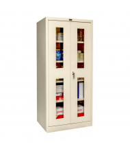 """Hallowell 800 Series 78"""" H Safety-View Storage Cabinets (Shown in Tan)"""