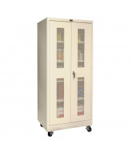 "Hallowell 800 Series 24"" D x 78"" H Ventilated Mobile Storage Cabinets (Shown in Tan)"