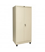"Hallowell 800 Series 24"" D x 78"" H Mobile Storage Cabinets (Shown in Tan)"