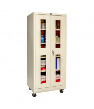 "Hallowell 800 Series 24"" D x 78"" H Safety-View Mobile Storage Cabinets (Shown in Tan)"
