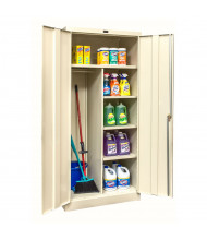 "Hallowell 800 Series 78"" H Combination Storage Cabinets (Shown in Tan)"